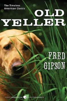 Old Yeller (Old Yeller, #1) by Fred Gipson.  The stray dog was ugly, and a thieving rascal, too. But he sure was clever, and a smart dog could be a big help on the wild Texas frontier, especially with Papa away on a long cattle drive up to Abilene.