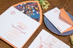 Japanese-style wedding invite package