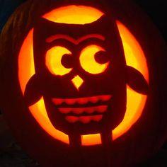 pumpkin easy owl carving ideas