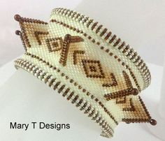 Bailey  A Beadwoven Bangle Bracelet...EBWC by MaryTDesigns on Etsy, $90.00