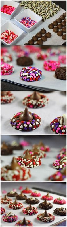 Chocolate Valentine Kiss Cookies