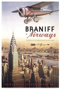 Braniff airways; New york
