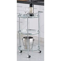 Bar Carts: Neu Home Round Serving Cart