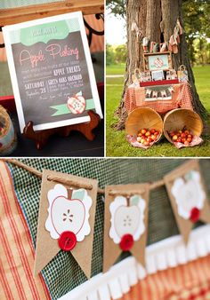 Rustic Fall Apple Picking Party