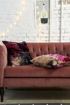 Hand-Dyed Velvet Pillow