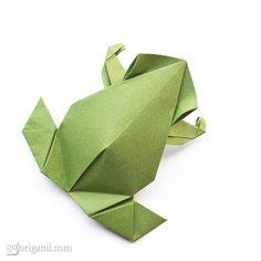 tutorials, paper craft, origami frog, amaz origami, papercraft, crafti, art, precolumbian, frogs