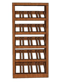 """Premium Series 4 Column Base Stacked Display from WineRacks.com starting at: $272.00    Dimensions: 18 3/4"""" wide x 39 3/4"""""""" high x 12 3/8"""" deep  Capacity: 20 Bottles  Available in: Mahogany, Oak & Pine    Designed to be used alone or with an Upper or Modular rack, this rack is constructed of solid wood with no stain/finish and will hold up to a standard champagne-size 750ml bottle.  This rack has angled display shelves for display of those special bottles.     American made"""