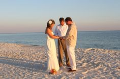 Vow renewal on the beach.