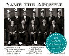 General Conference Printable - Name The Apostle ldslane.com