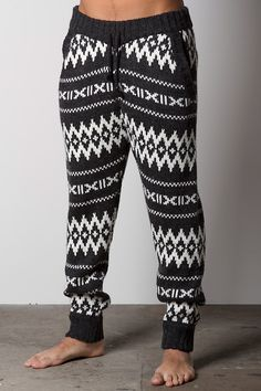 FRESHJIVE SPIRIT KNIT PANT: FULL FASHIONED YARN DYED SWEATER KNIT PANT WITH WOODEN CORD STOPPERS.....not sure its worth $110 but I do kinda love them.