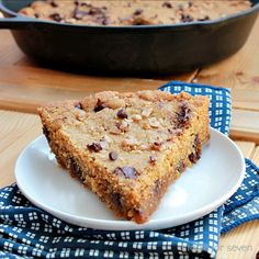 table for seven: Iron Skillet Chocolate Chip Toffee Cookie