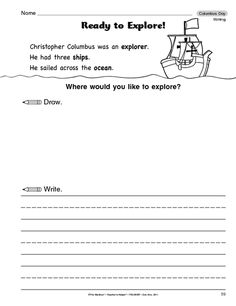 Columbus Day Writing Worksheet