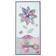Free P Handmade Flower Birthday Card by Helle Belles Cards