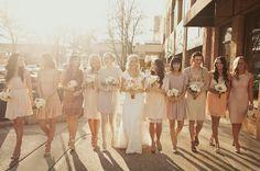 10 neutral mismatched bridesmaids in pretty light http://su.pr/2eRvZn
