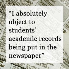 Quotes board by Daily Freeman | Publicizing honor rolls invades privacy, parent tells Red Hook Board of Education