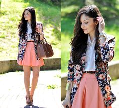 Chicwish Skirt, Chicwish Blazer, Shirt Romwe