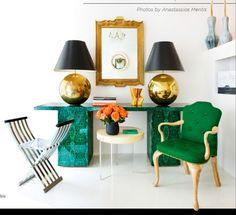 malachite and green