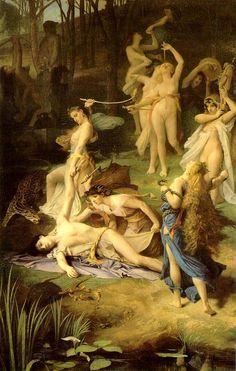 La muerte de Orfeo by: Emile Levy (1826- 1890) Academicismo Museo de Orsay. París