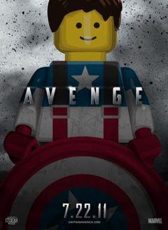 Lego Captian America Poster