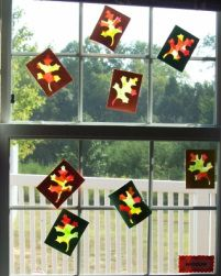 Cute Autumn Craft...Window Leaves <3