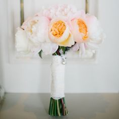 Lace-wrapped bouquet