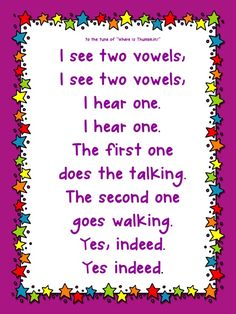 I love this poster for teaching phonics!