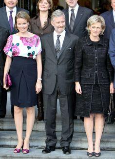 Princesse Astrid avec le roi Philippe et la reine Mathilde