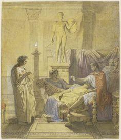 "Jean-Auguste-Dominique Ingres, Virgil Reading the Aeneid to Augustus (Study for ""Tu Marcellus Eris""), 1850, Harvard Art Museums/Fogg Museum."