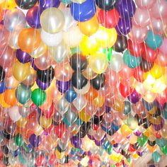 Balloon ceiling, millions of balloons