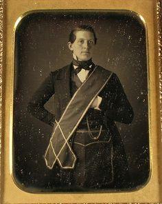 (c.1840s-50s) Fraternal Masonic Sash