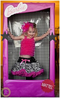 Great idea for any themed children's party. Looks pretty easy to make with a large cardboard box.
