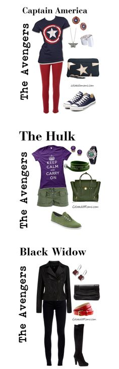 Avenger's fashion - outfits for nerds, captain america, nerd outfits for girls, geek outfits, shirt sayings, inspired outfits, aveng fashion, avenger outfits, the avengers