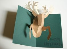 dad's birthday card - made with Martha Stewart's templates