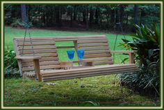 Double Porch Swing with Cupholders