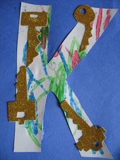 Letter K Day Craft - Keys!