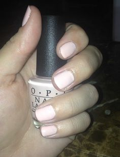 Nude pink great for work! Professional classy nails by OPI in sweetheart