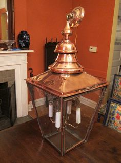 Antique Copper Lantern Chandelier Extra Large | eBay