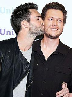 Adam Levine and Blake Shelton, too cute I love them both!