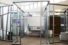 """DIRTT. """"open office"""" with more private conversation room. open offic, offic inspir, design offic, kw offic, offic idea"""