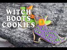 Halloween Witch Boots Cookies https://www.youtube.com/watch?v=iBKWu5xLydc