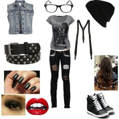 Polyvore rock outfits