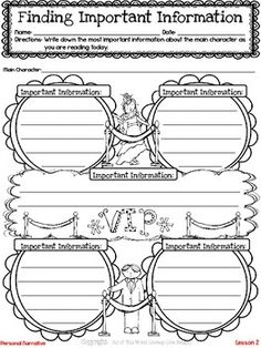 Freebie! This resource includes a lesson for both reading and writing workshops on identifying important information during reading. It also includes a printable graphic organizer and thinkmark.