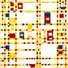 Broadway Boogie Woogie, Piet Mondrian. I waited seven years before getting to see this painting up close and personal last Fall at the MoMA. One of my life's most incredible moments.  ...And time stood still.