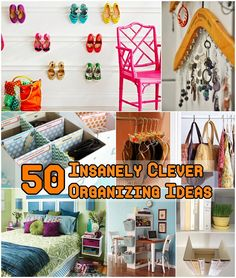 Diy Projects: 50 Insanely Clever Organizing Ideas organ idea, organizing ideas, insan clever, clean, hous, clever organ, storage ideas, decor idea, 50 insan