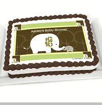 Baby Elephant - Personalized Baby Shower Cake Image Topper