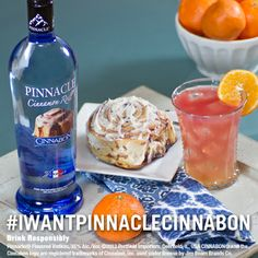 Pinnacle® Citrus Swirl  1 part Pinnacle® Cinnabon® Vodka 1 part Fresh OJ 1 part  cranberry juice Shake all ingredients and pour over ice in a highball glass. Garnish with an orange.