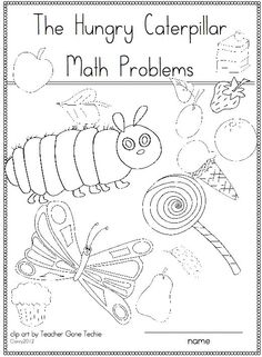 THE VERY HUNGRY CATERPILLAR MATH PROBLEMS