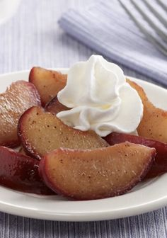 This one-step Glazed Spiced Plums recipe is an easy dessert to make and is less than 100 calories!