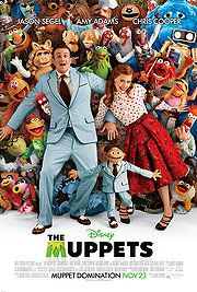 Muppets (2011). If you ever liked the muppets, or puppets in general, you will like this family-friendly romp. I forgot that, in general, I'm pretty calm about them.