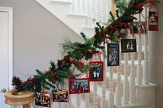 LOVE this. Take your family cards from over the years and frame them in black frames to display each year.